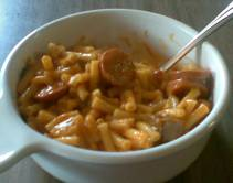 bowl of chili-mac